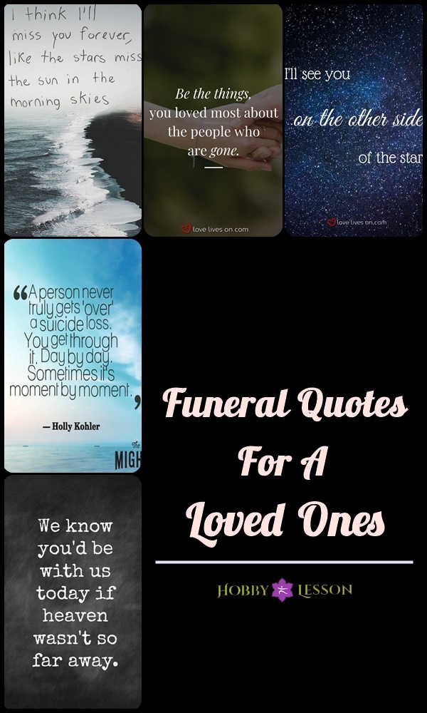 Funeral Quotes For A Loved Ones