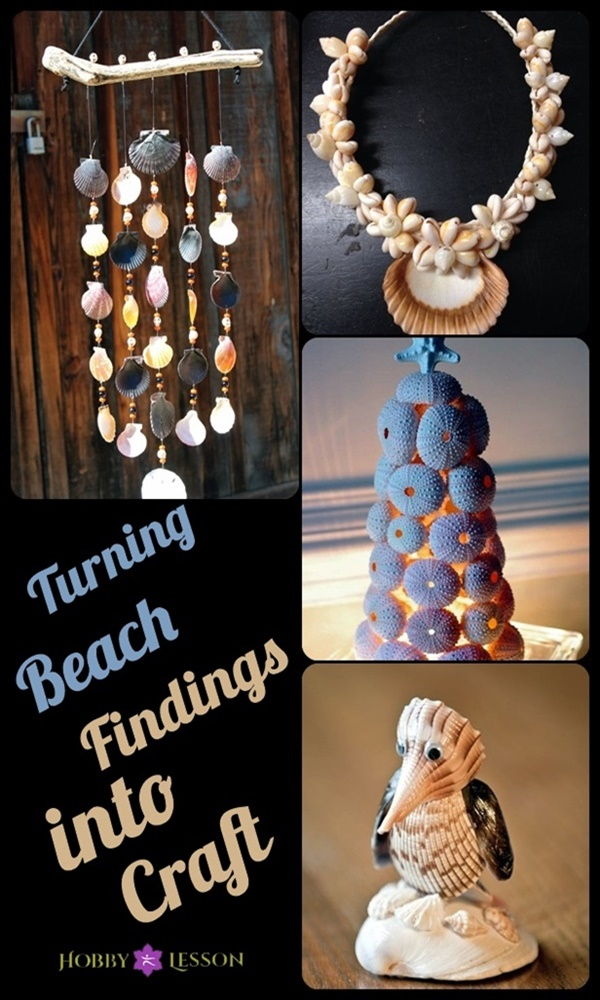 Turning Beach Findings into Craft: 40 Pictures