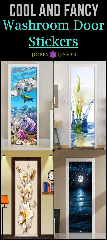 40 Cool and Fancy Washroom Door Stickers