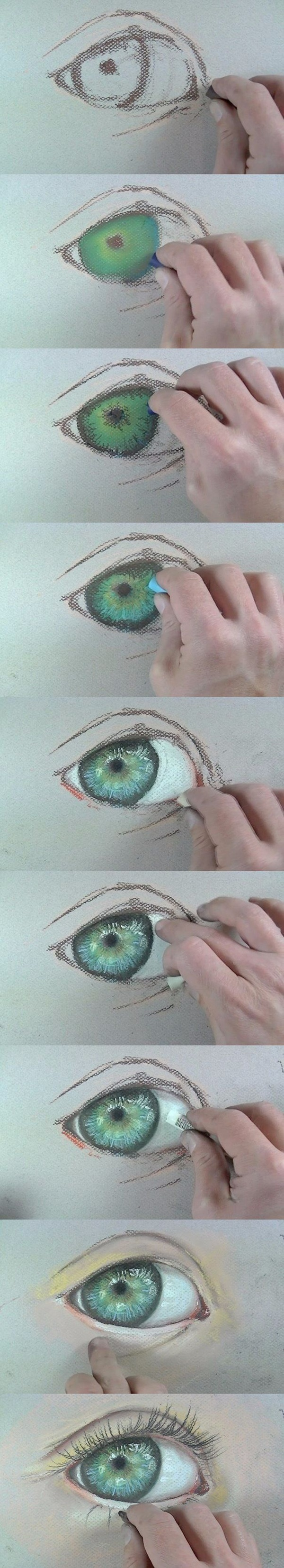 How To Draw An Eye With Crayon