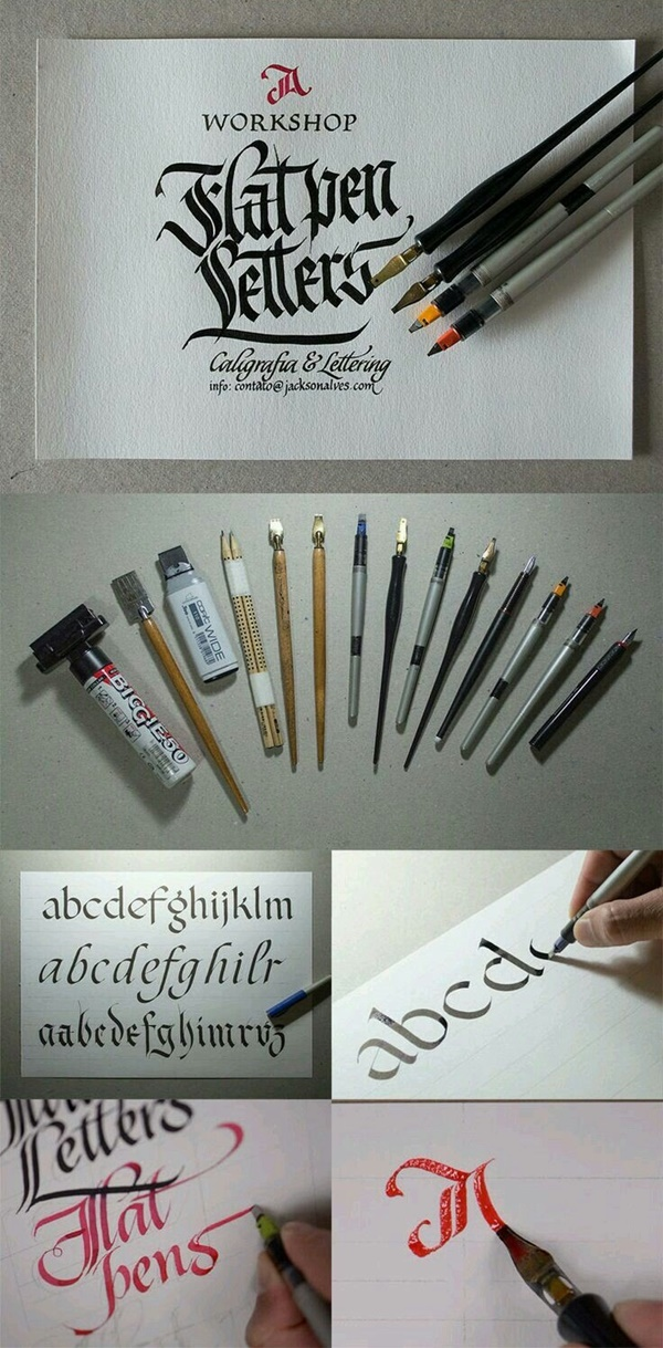 Different Types of Calligraphy pens For Beginners