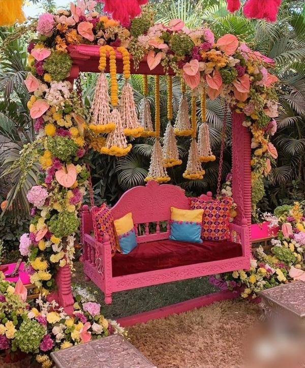 Dekorationsideen für die Mehendi-Zeremonie