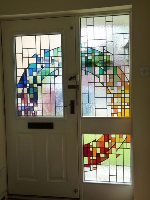 40 Main Door Glass Painting Designs