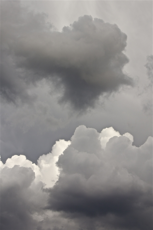 Infuse Chromatic greys to intensify the clouds