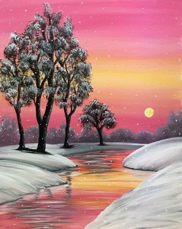 Beautiful Sunset Acrylic Painting Ideas For Beginners